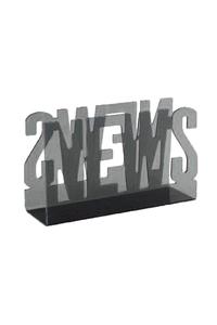 Product Εφημεριδοθήκη News Μαύρη Διάφανη base image