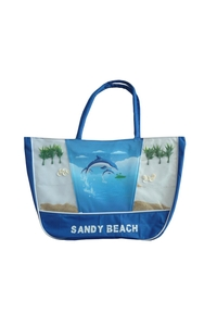 "Product Τσάντα Θαλάσσης Μπλε ""Δελφίνια"" base image"
