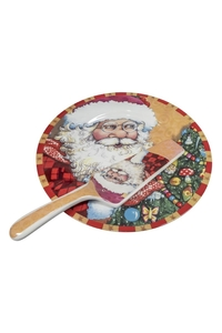 Product Πιατέλα Με Σπάτουλα Χριστουγεννιάτικη 26cm Σε 3 Σχέδια base image