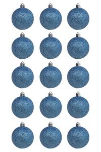 Product Μπάλες Χριστουγεννιάτικες Σε 4 Χρώμ. Με Γκλίτερ 6cm Σετ 15 τεμ. base image