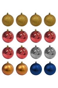 Product Μπάλες Χριστουγεννιάτικες  Γυαλιστερές / Γκλίτερ / Ματ 8cm Σετ 16 τεμ. base image