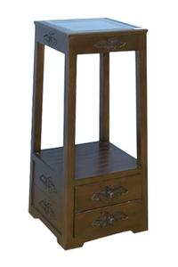 Product Ανθοστήλη Ξύλινη Πυραμίδα Με 2 Συρτάρια 38746 base image