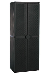 Product Ντουλάπα Πλαστική Δίφυλλη Με 4 Ράφια Και Χώρισμα Rattan 5710.00.162 base image