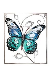 Product Διακοσμητικό Τοίχου Μεταλλικό Πεταλούδα Μπλε Garden Pleasure 507218 base image