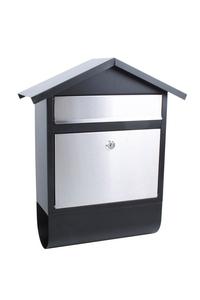 Product Γραμματοκιβώτιο Μαύρο/Inox 38.5x45.5x14.5cm Garden Pleasure 50909 base image