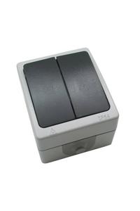 Product Διακόπτης Εξωτ. Χώρου Διπλός Αδιάβροχος Bellson 011000 base image
