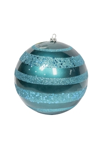 Product Μπάλα Χριστουγεννιάτικη Τυρκουάζ Με Γκλίτερ 14cm base image