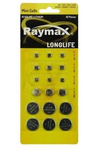 Product Μπαταρίες Κουμπιά Σετ 18 τεμ. Raymax  base image