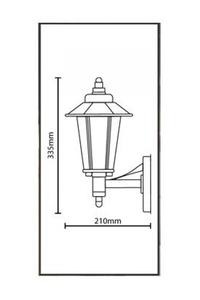 Product Φωτιστικό Φανάρι Τοίχου Ανοξείδωτο 7290310 base image