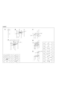 """Product Σετ Τραπέζι & 2 Καρέκλες Wenge """"Lance"""" base image"""