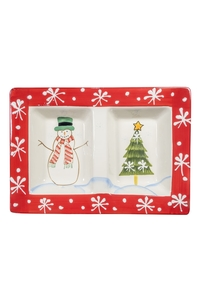 "Product Ορντεβιέρα Χριστουγεννιάτικη 26x19xcm ""Χιονάνθρωπος"" base image"