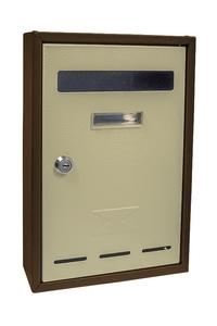 Product Γραμματοκιβώτιο Appia Μπεζ / Καφέ 20x30x6cm base image