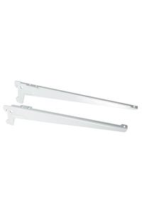 Product Βραχίονες Ραφιού Γωνιακοί Element Δύο Αγκίστρων Λευκοί 38cm Σετ 2 τεμ. base image