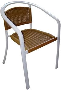 Product Καρέκλα Αλουμινίου Λευκή base image