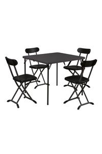 Product Σετ Τραπέζι Με Καρέκλες Πτυσσόμενα Καρυδί Linea S1815086 base image