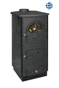 Product Θερμάστρα Ξύλου Εμαγιέ Μαύρη ST309 base image