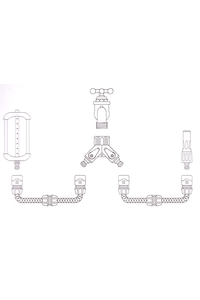 Product Διακλαδωτής Ποτίσματος Διπλός Με Διακόπτες Aquacraft 550250 base image