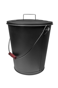 Product Κουβάς Μεταλλικός Μαύρος Με Καπάκι ø27x30cm base image
