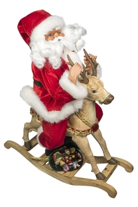 Product Διακοσμητικό Χριστουγεννιάτικο Με Μουσική & Κίνηση Αγ. Βασίλης Με Τάρανδο 97407 base image