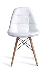 Product Καρέκλα Lamia Wood  Λευκή PU base image