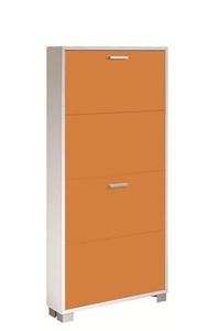 Product Παπουτσοθήκη Με 4 Πόρτες Λευκό/Πορτοκαλί base image