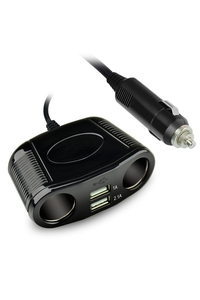 Product Πολύπριζο Αυτοκινήτου 12/24v 2 Θέσεων + 2 USB Streetwize SWUSB4 base image