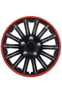 "Product Τάσια Αυτοκινήτου Μαύρα Με Κόκκινη Ρίγα Σετ 4 τεμ. 15"" Streetwize SWUX66 base image"