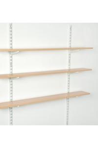 Product Ορθοστάτης Τοίχου Element Διπλής Διάτρησης 200cm Λευκός Σετ 2 τεμ base image