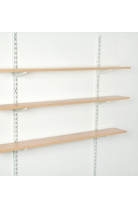 Product Ορθοστάτης Τοίχου Element Μονής Διάτρησης 50cm Λευκός Σετ 2 τεμ base image