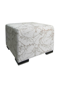 Product Πουφ Ikon 9002 Λευκό - Χρυσό base image