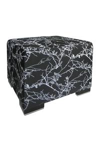 Product Πουφ Ikon 9020 Μαύρο - Ασημί base image