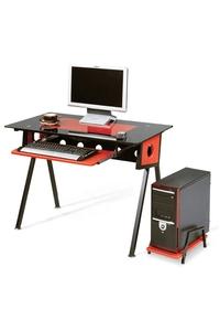Product Γραφείο Η/Υ Μεταλλικό Κόκκινο / Μαύρο 100x53x75cm base image
